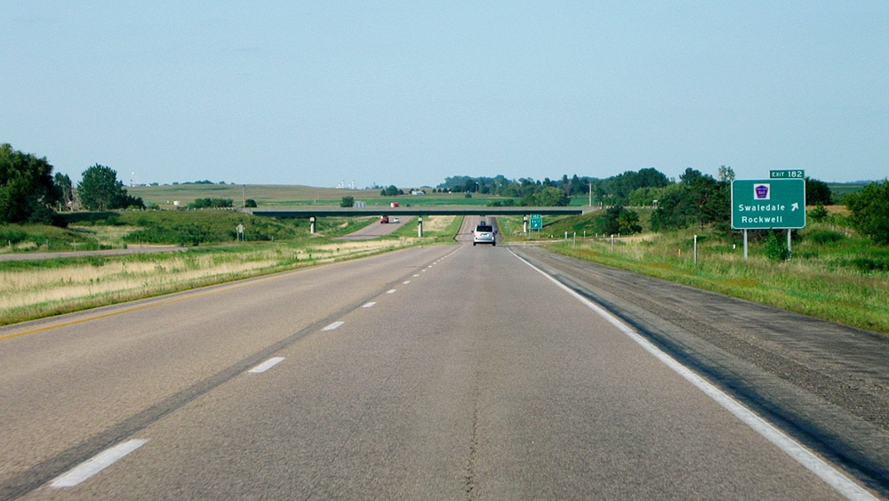 The open road in Iowa.