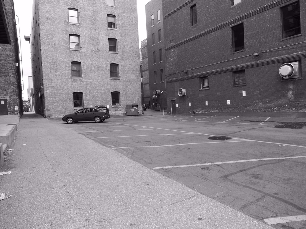 Parking lot in St. Paul's Lowertown