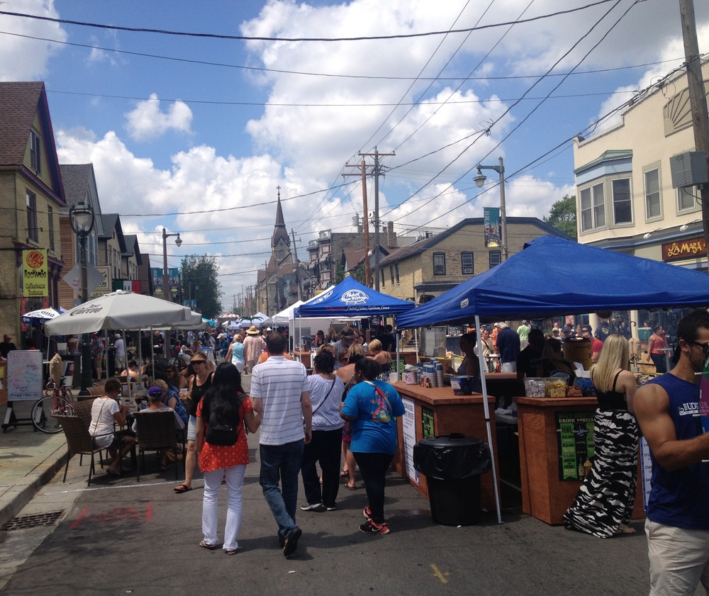 Brady Street, during a recent festival