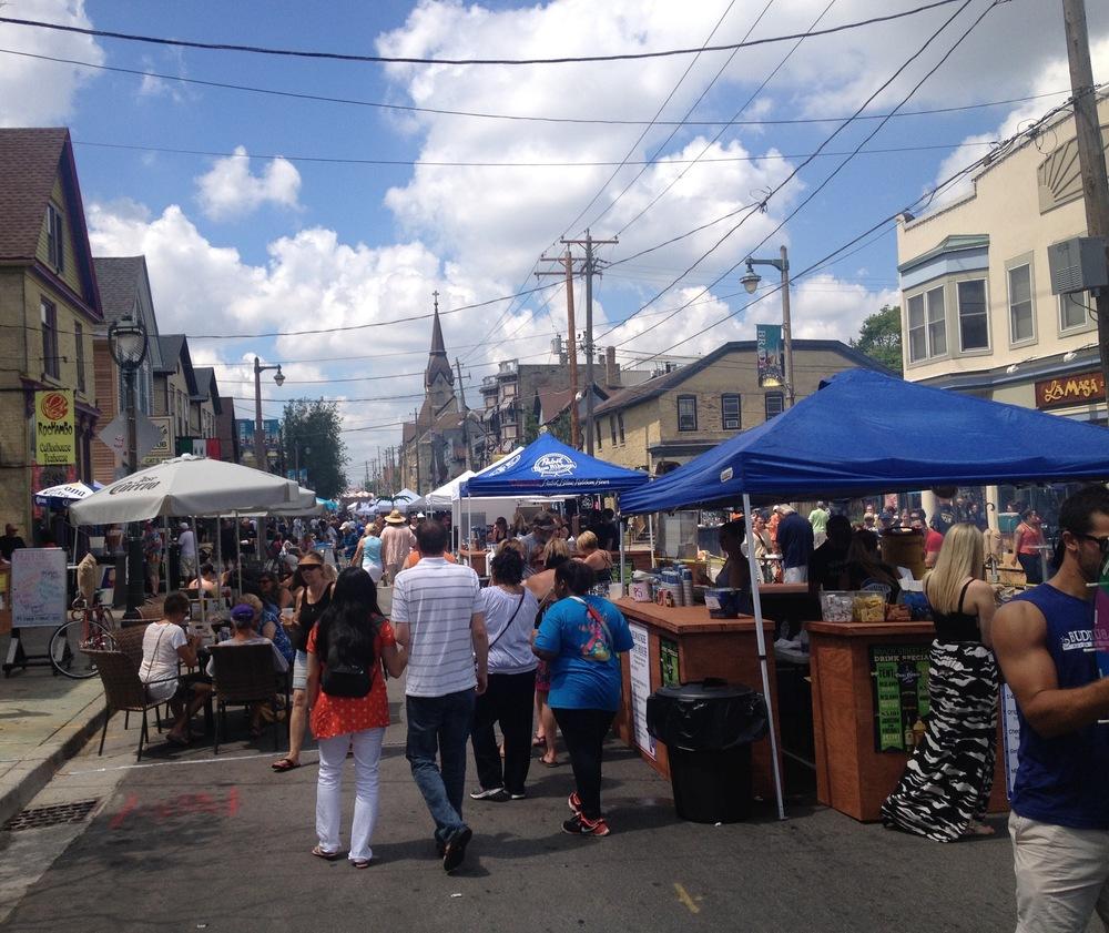 Brady Street, during a recent festival