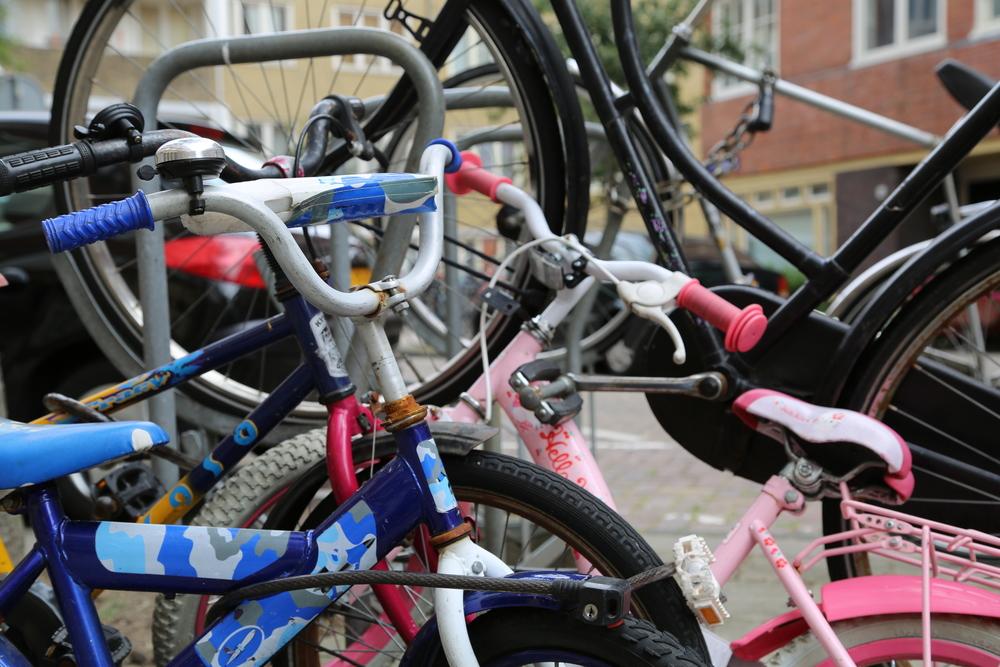 A bike rack in Amsterdam. Photo by Gracen Johnson.