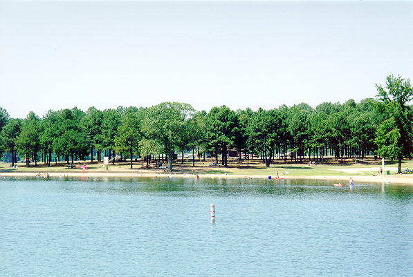 Beaverfork Lake in Arkansas. A popular place for locals to picnic and swim.