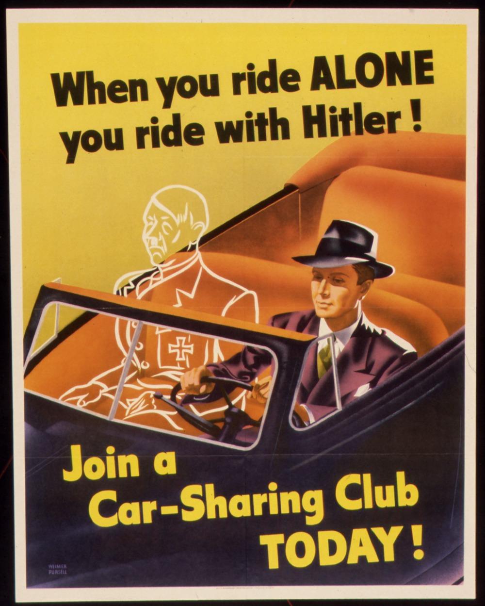 Wwii Carpooling Propaganda Strong Towns