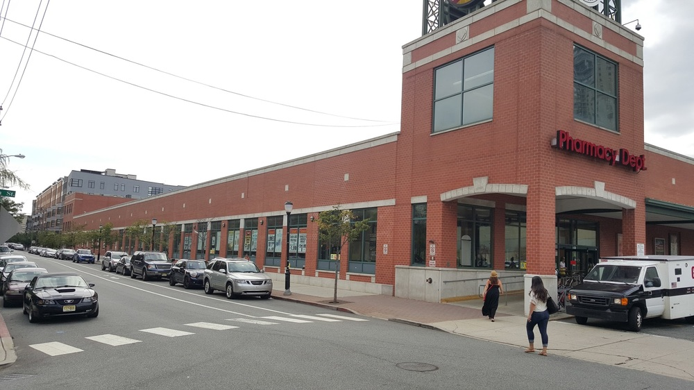A supermarket in Hoboken taking up around 200 feet of block space