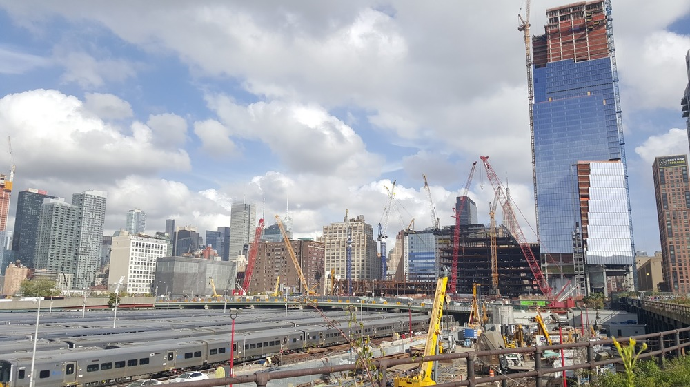 The Hudson Yards development in Manhattan is building over a rail yard, and requires a lot of engineering work to build a base. It seems impractical from both an engineering and finance perspective to divide up into individual lots, and so we have a situation where one large developer taking control of the entire site makes sense.