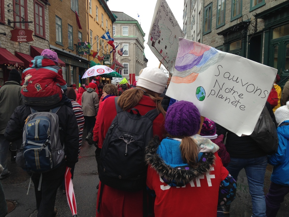 Joining 25,000 people in the streets of Québec City for the #11Avril Climate March - http://act-on-climate.ca/