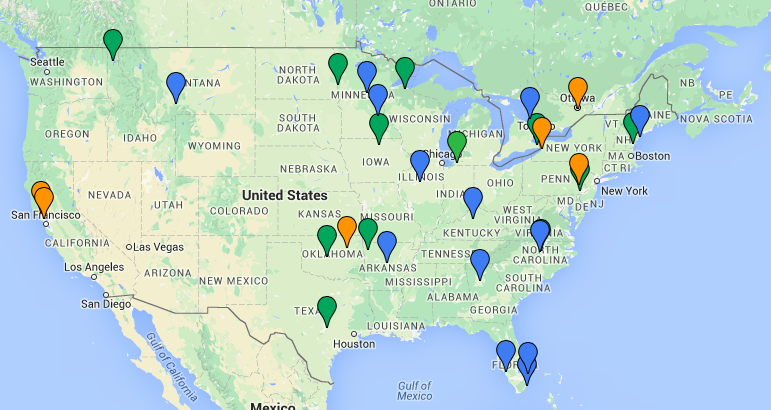 a map of cities that got rid of parking minimums strong towns