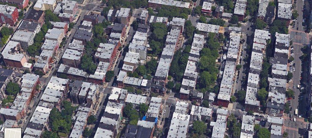 Fine-grained blocks in Hoboken, NJ, averaging around 40 lots per block