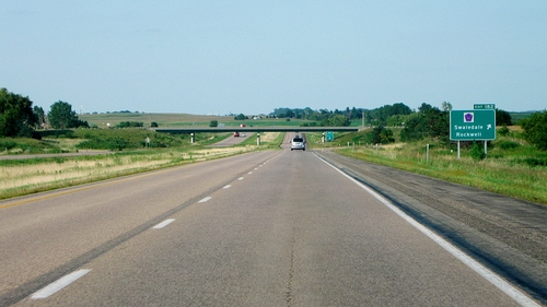 The open road in Iowa