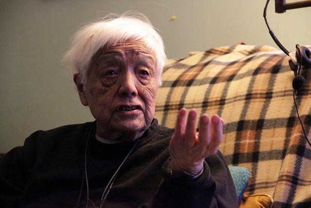 Photo of Grace Lee Boggs, by Kyle McDonald