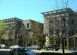 View from plaza in downtown Healdsburg