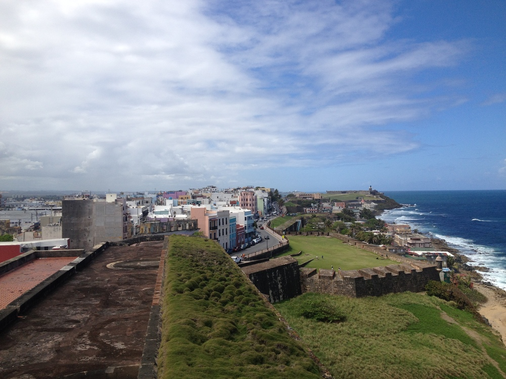 View of Old San Juan from atop an old Spanish fort