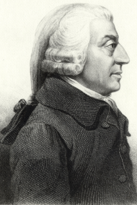 Adam Smith. Image from Wikimedia.
