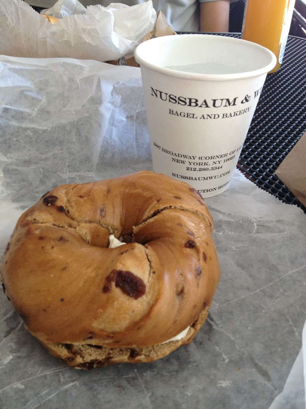 A bagel and coffee from Nussbaum & Wu, my favorite NYC deli