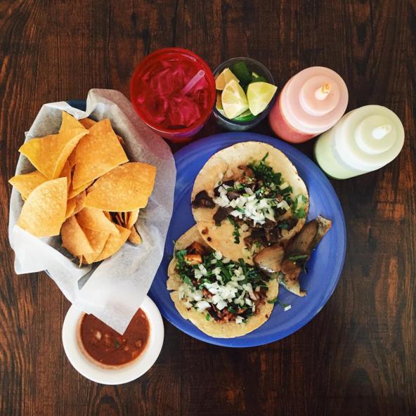 Tacos al pastor & carne asada at El Rey del Taco