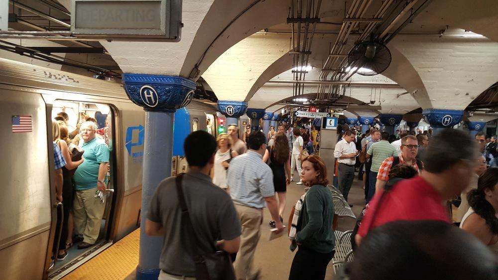 Hoboken's PATH station.