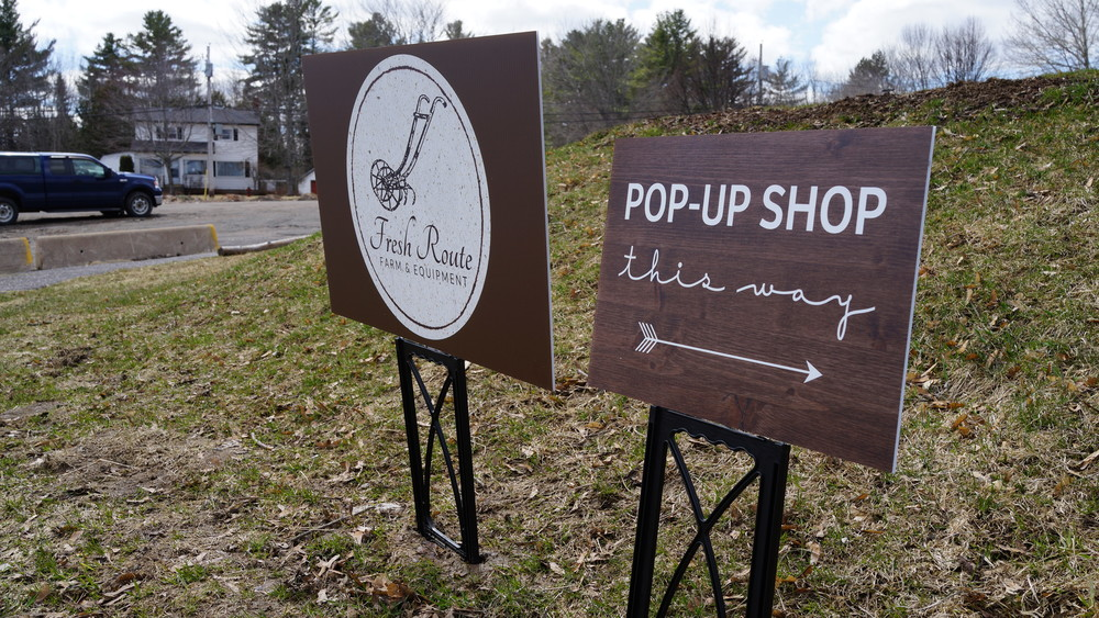 Pop-up shop inside
