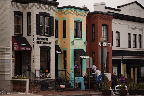 Neighborhoods like Georgetown came about one building at a time. Photo by Norman Maddeaux on Flickr