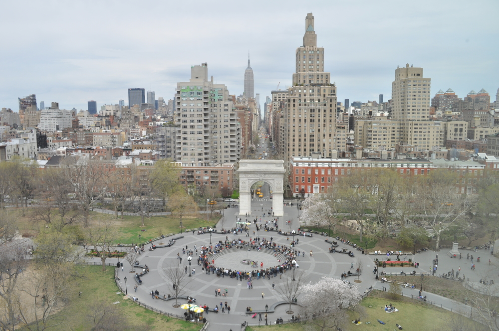Washington Square Park, which Jane Jacobs helped save from destruction by a highway project.