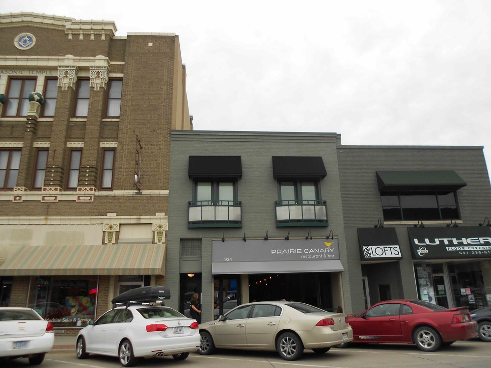 A mix of modern and historic buildings, put to use in Grinnell, IA