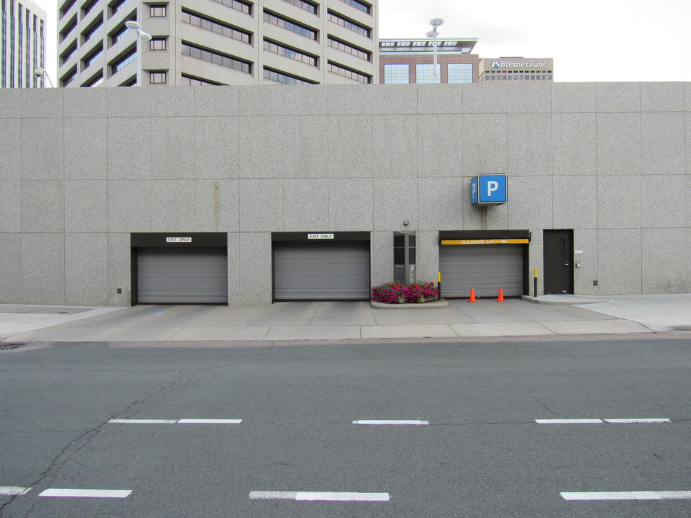 Parking structure in St. Paul's Lowertown