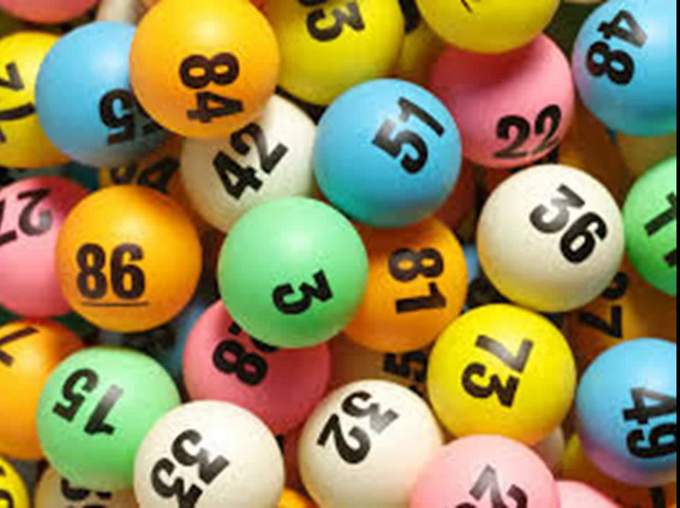 Colorful lottery balls