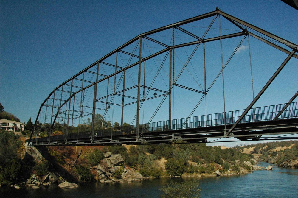 Formerly a bridge for horse-drawn carts, this truss bridge near Folsom, CA has been converted for use by bike and pedestrians. ( Photo courtesy of Dave Alden.)
