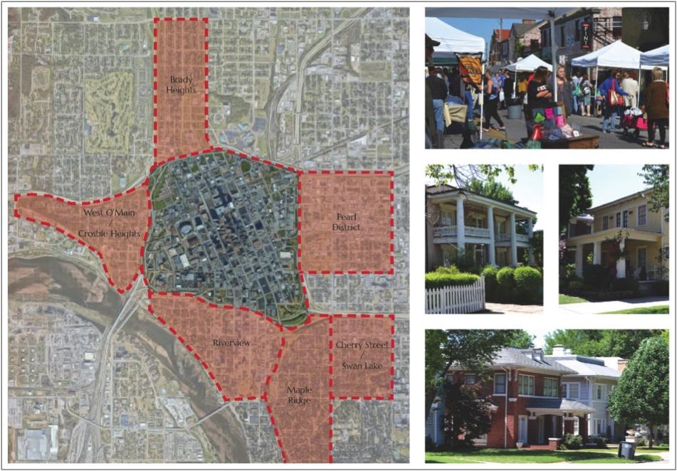 """Pre-war """"collar neighborhoods"""", Tulsa, OK"""
