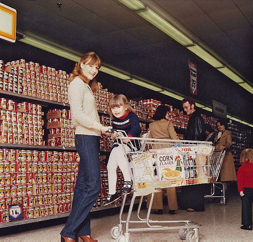 Grocery shopping, circa 1970 (photo by  Debbie Mc )