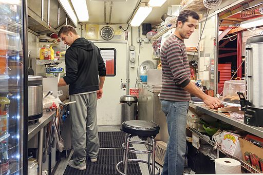 Inside a food truck (photo from Wikimedia)