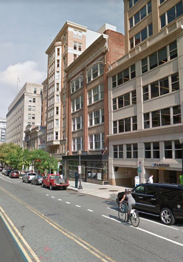 Street through Penn Quarter in downtown Washington, DC: all the livability of a suburban, New Urbanist-inspired development, but with none of the commuting hassle. (Photo courtesy of Google Streetview.)