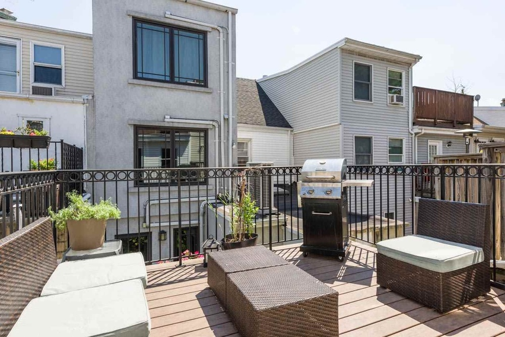 Instead of a backyard, it looks like you get a rooftop terrace.