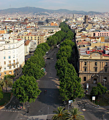La Rambla, Barcelona (Photo from Oh-Barcelona.com)