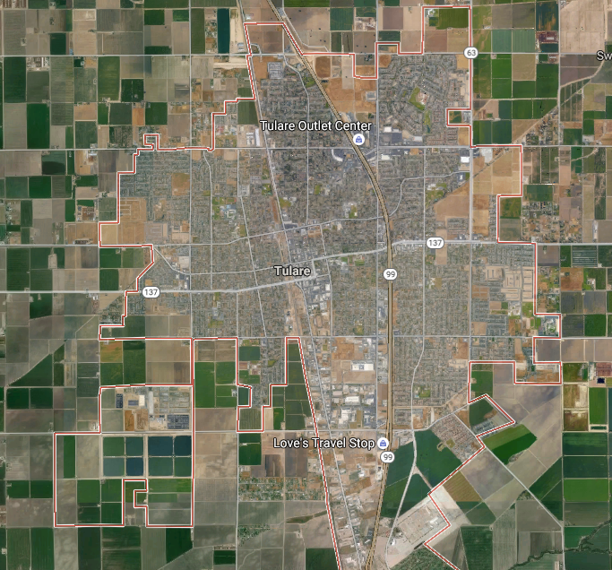 Tulsa, CA  (from Google maps)