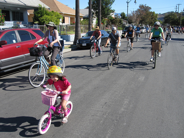 Photo of CicLAvia 2011, by Umberto BrayJ