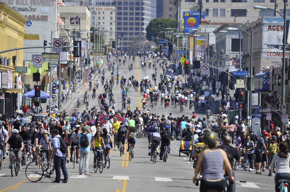 Photo of CicLAvia 2011, by Steve and Julie
