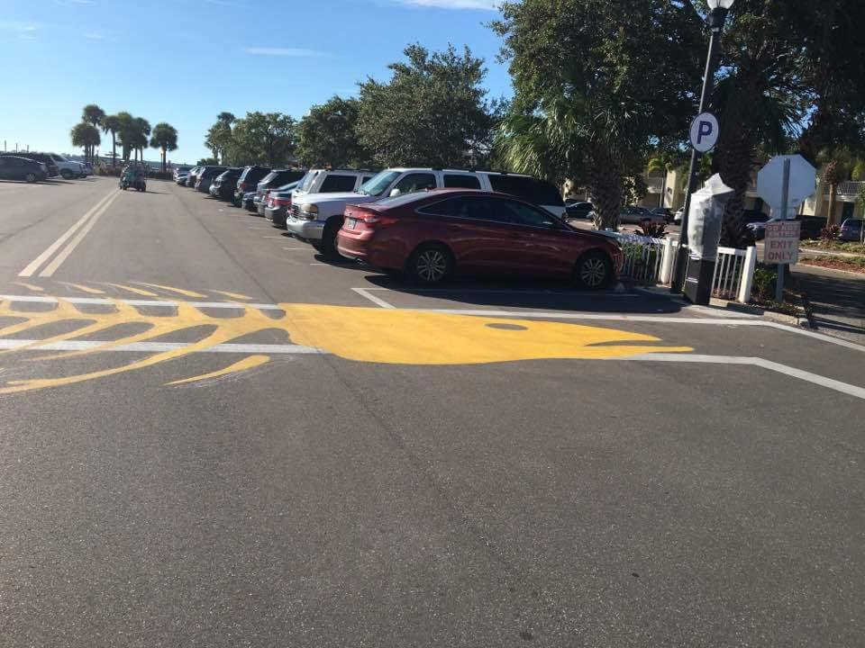 Fishbone Crosswalk