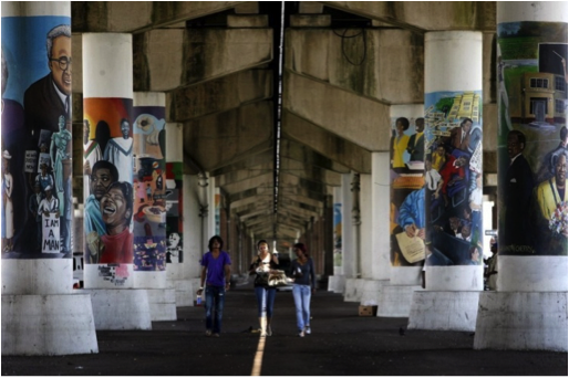 Claiborne Avenue today under I10. Source