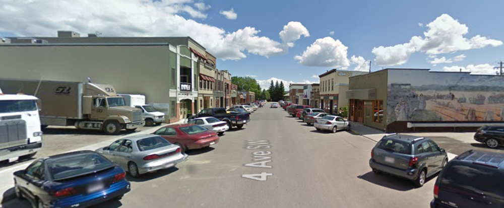 4th Avenue in High River, June 2009 (from  Google Streetview )
