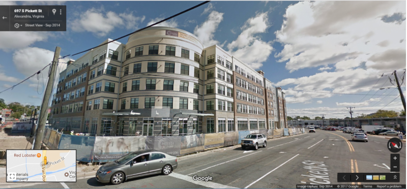 Transit Oriented Development near Van Dorn Street. You can find some of this already in western Alexandria. Image from Google Maps.