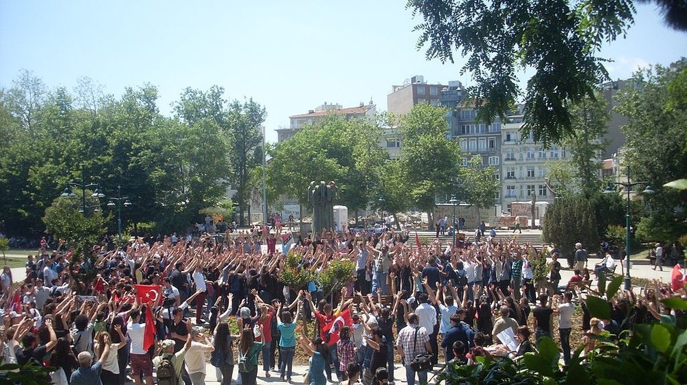 2013 protests at Gezi Park in Istanbul, Turkey (Source:  Vikipicture )