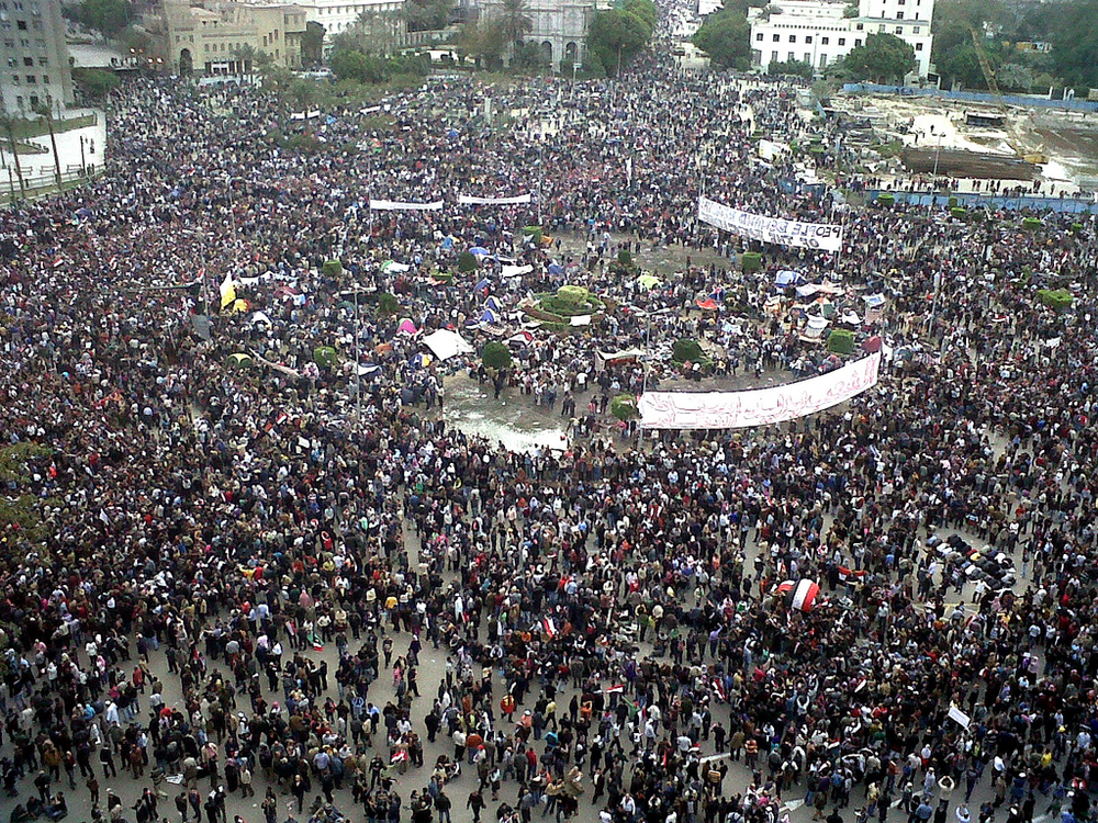 Tahrir Square in the midst of the Arab Spring (Source:  Mona Sosh )