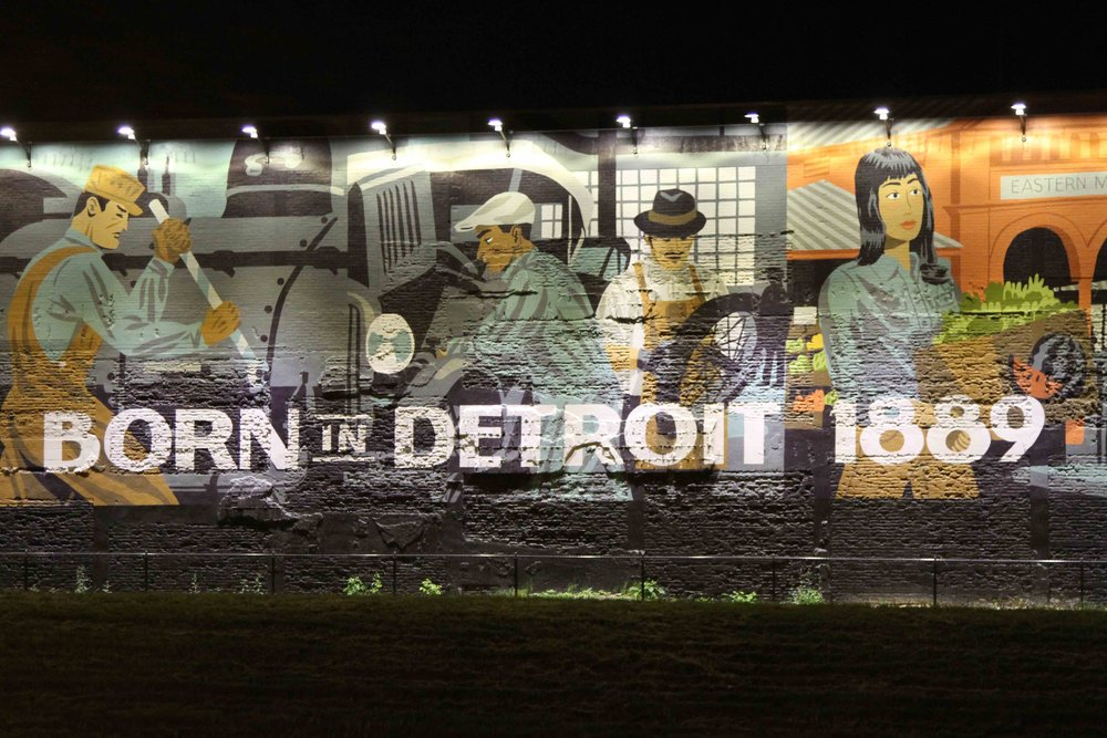 A mural in Detroit (Photo by Johnny Sanphillippo)
