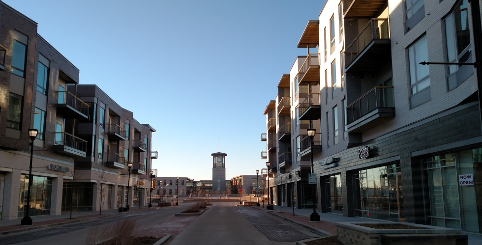 The partially completed development. (Image from  Drexel Town Square website )