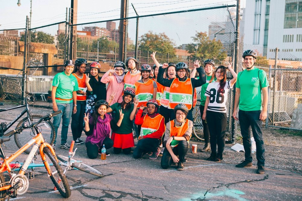 Students at the International High School at Union Square in New York City gather as part of a bicycle program. Through ioby the students received crowdfunding to create a documentary about their program.  Learn more.
