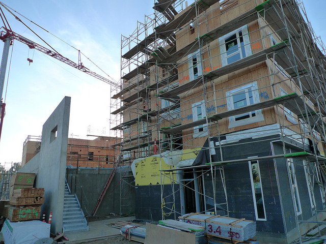 Affordable housing under construction in West Sacramento, CA (Photo by  Mark Hogan )