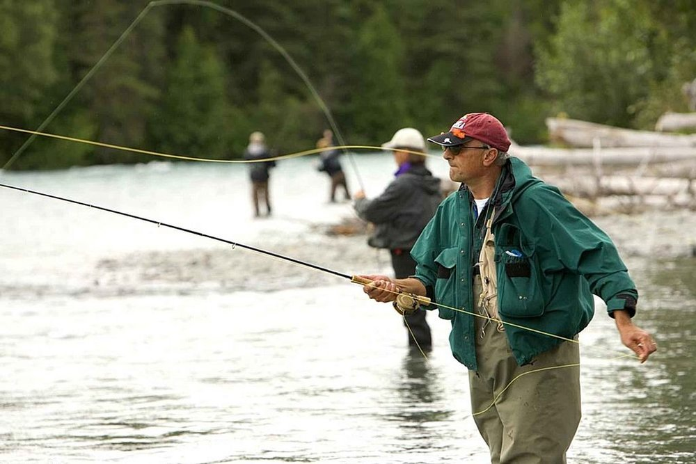 People fly-fishing. (Source:  Hillebrand Steve, U.S. Fish and Wildlife Service )