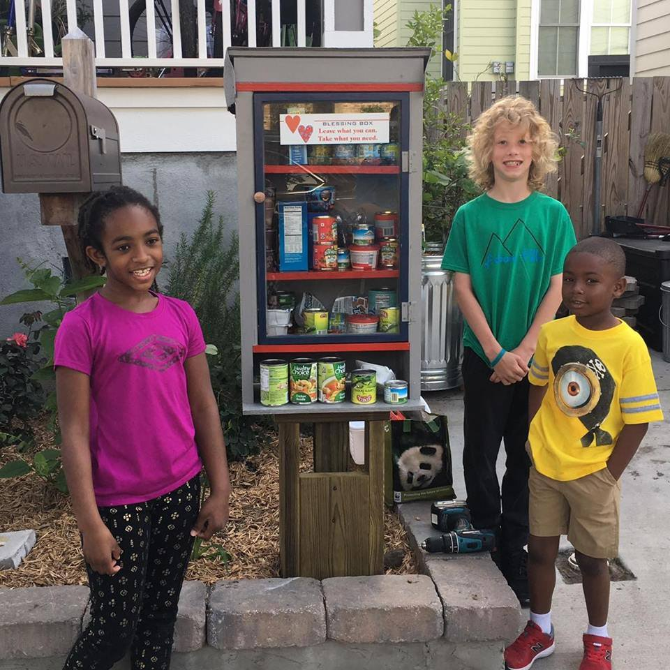 "The ""Blessing Box,"" a little free pantry spin off."
