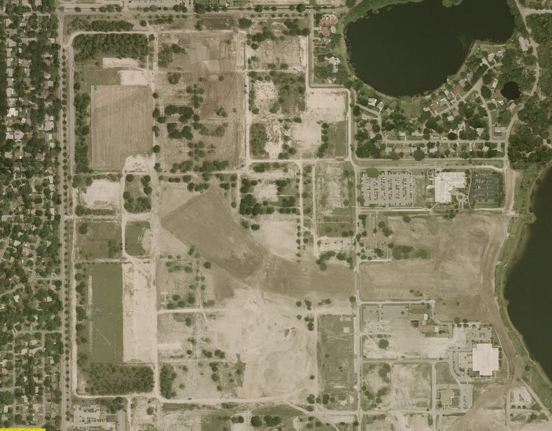Former Naval Recruit Training Center, Orlando, now the site of Baldwin Park. (Source: Panoramio.)