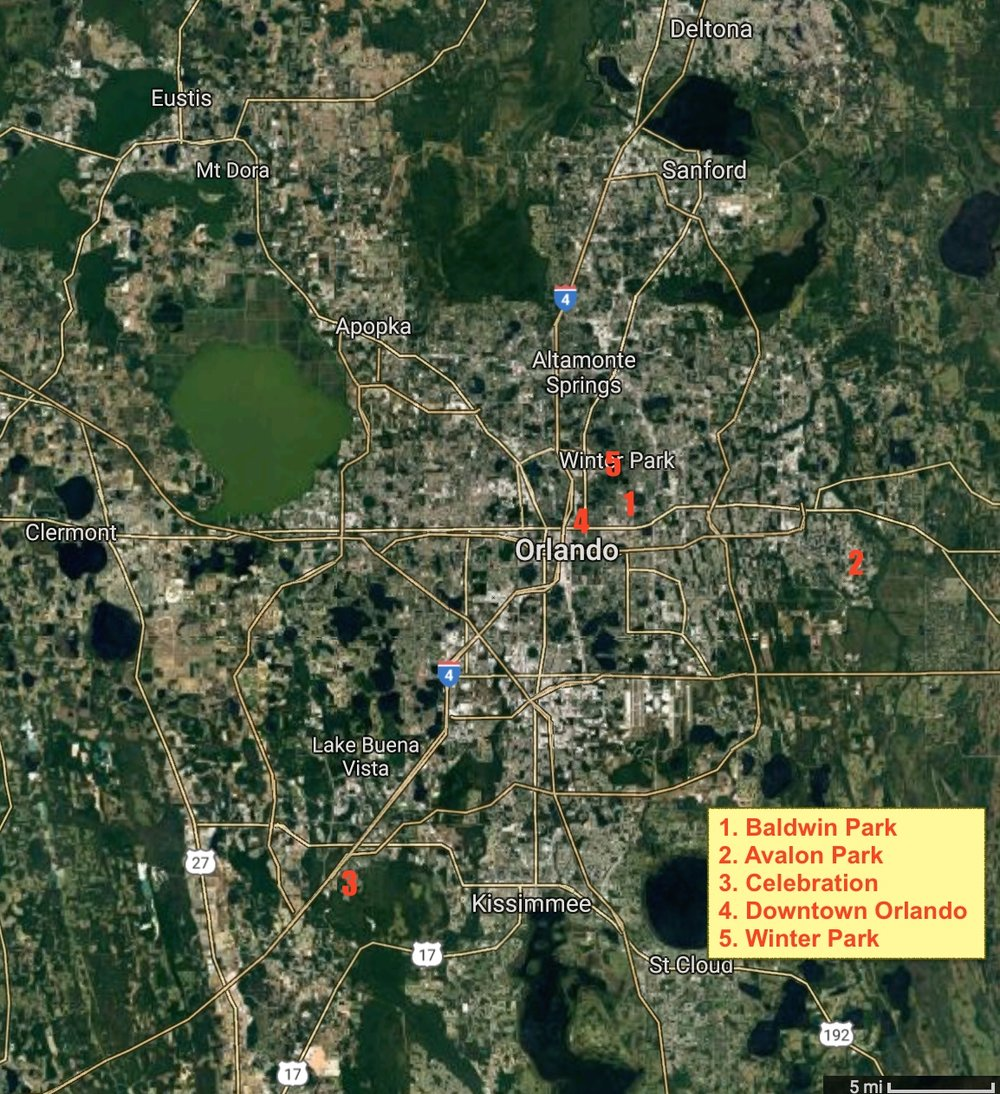 Orlando Metro Map.Baldwin Park A Test For New Urbanism Strong Towns